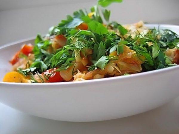 Рецепт                  Витаминный салат из капусты