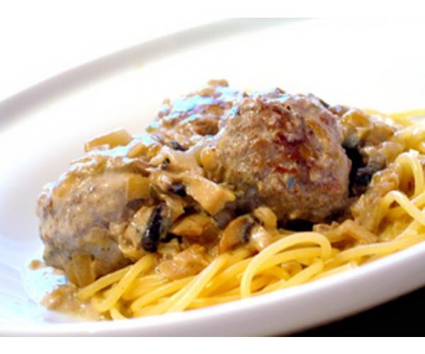 Рецепт                  Спагетти с тефтелями