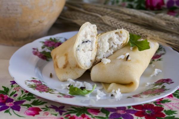 Рецепт                  Рецепт блинов с мясом курицы и рисом