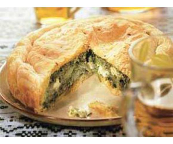 Рецепт                  Пирог со шпинатом и сыром