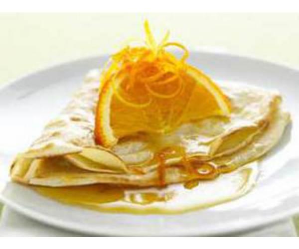 Рецепт                  Блинчики с апельсиновой цедрой