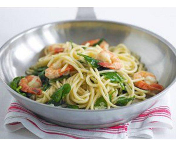 Рецепт                  Спагетти с креветками