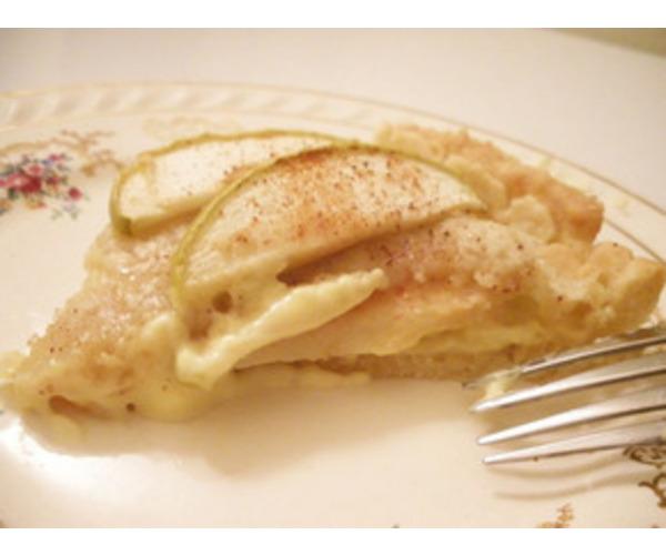Рецепт                  Яблочный пирог с ванильным кремом
