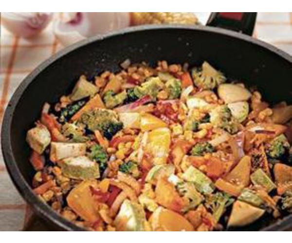 Рецепт                  Жареные овощи с чили