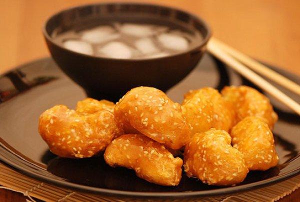 Рецепт                  Яблоки в карамели по-китайски