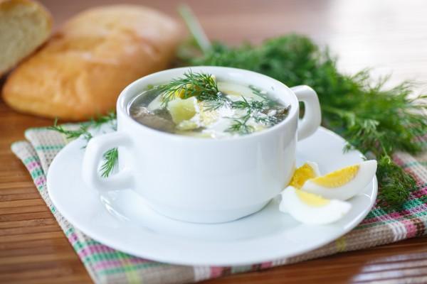 Рецепт                  Весенний суп из щавеля