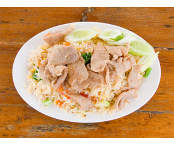 Рецепт                  Жареный рис со свининой