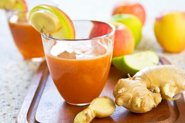 Рецепт                  Яблочно-морковный сок с имбирем