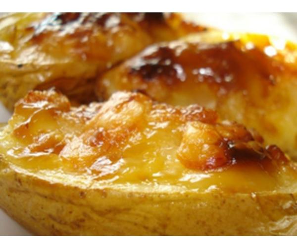 Рецепт                  Печеный картофель с сыром