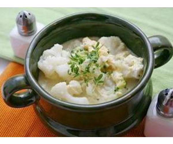 Рецепт Суп из цветной капусты в микроволновке