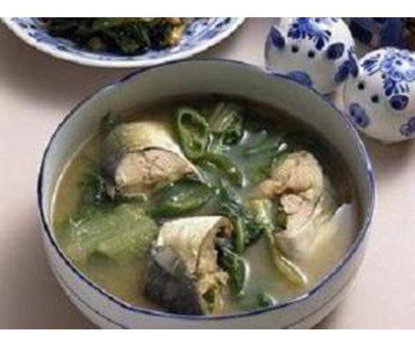 Рецепт                  Зеленый борщ с рыбой