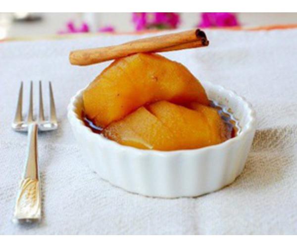 Рецепт                  Яблоки в белом вине