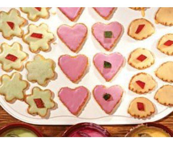 Рецепт                  Бисквитное печенье с глазурью