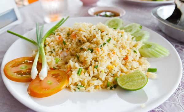 Рецепт                  Жареный рис с курицей по-китайски