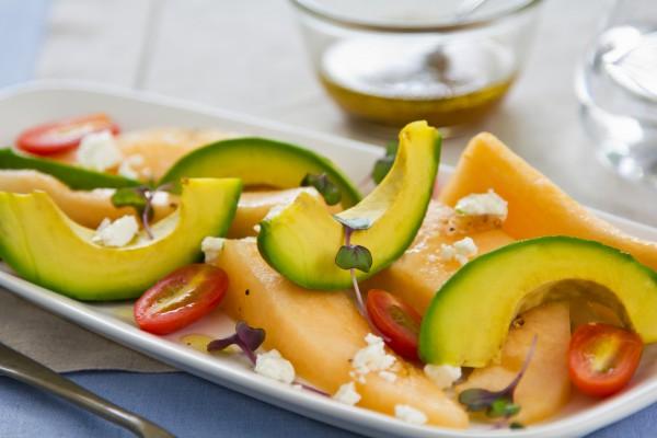 Рецепт                  Летний салат из дыни и авокадо