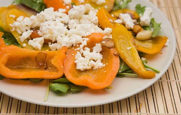 Рецепт                  Салат из рукколы, болгарского перца и феты
