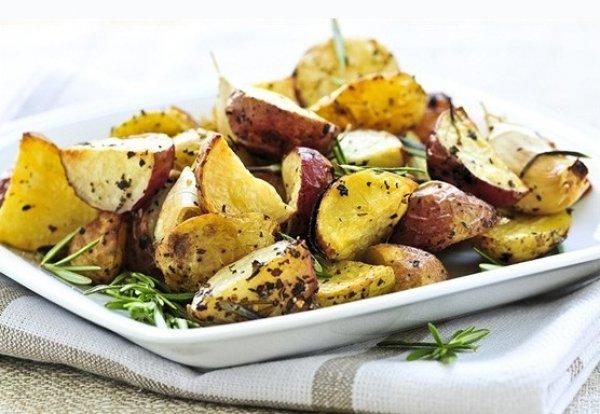 Рецепт                  Жареный картофель с оливками и лимоном по-мароккански