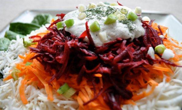 Рецепт                  Витаминный салат из свеклы и моркови