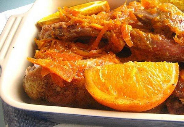 Рецепт                  Утка в апельсиновом соусе