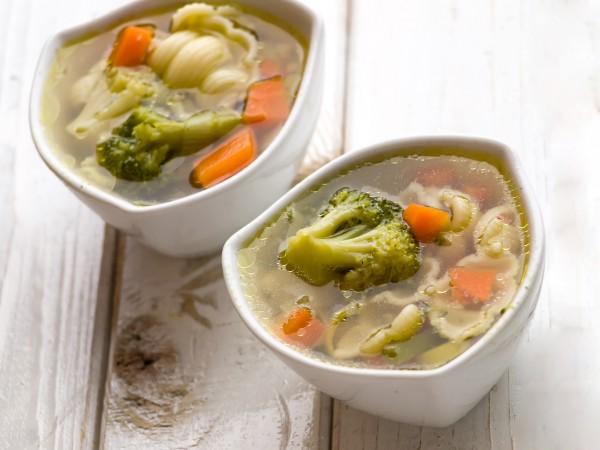 Рецепт                  Постный суп с овощами и макаронами