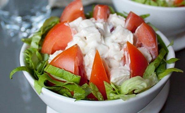 Рецепт                  Салат из курицы с помидорами