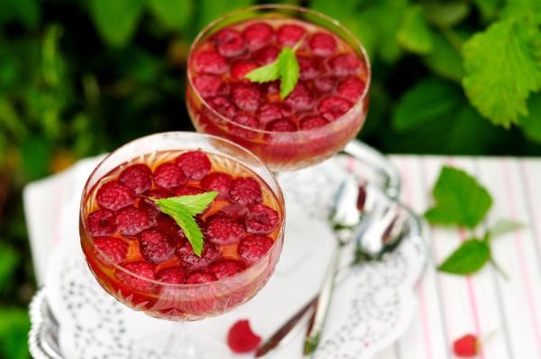 Рецепт                  Малиновое желе с вином
