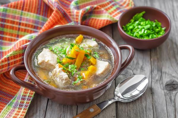 Рецепт                  Деревенский суп с говядиной и овощами