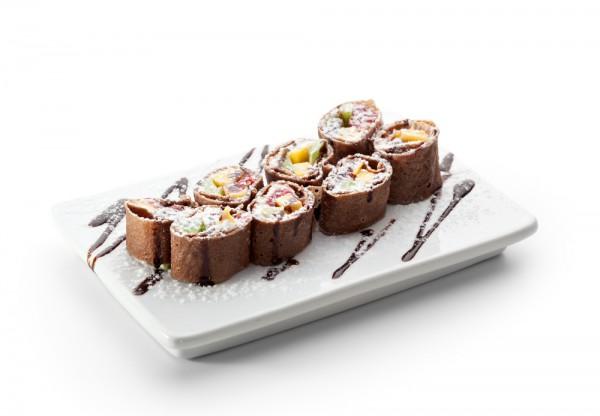 Рецепт                  Масленица 2015: Шоколадные блины с фруктами