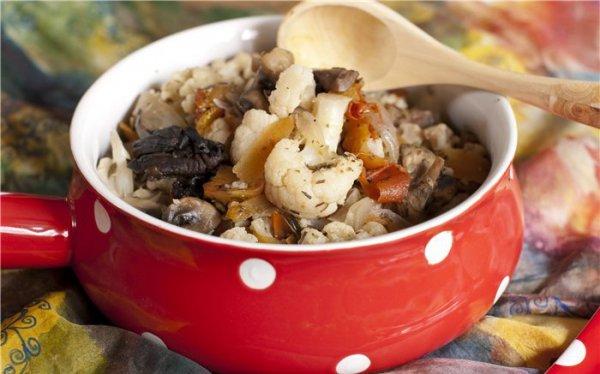 Рецепт                  Рагу из цветной капусты с грибами