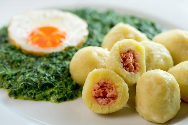 Рецепт                  Картофельные шарики с мясным фаршем