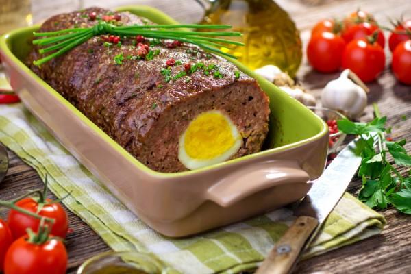Рецепт                  Пасхальные рецепты: Мясной хлебец с вареными яйцами