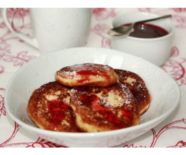 Рецепт                  Сырники с калиновым соусом