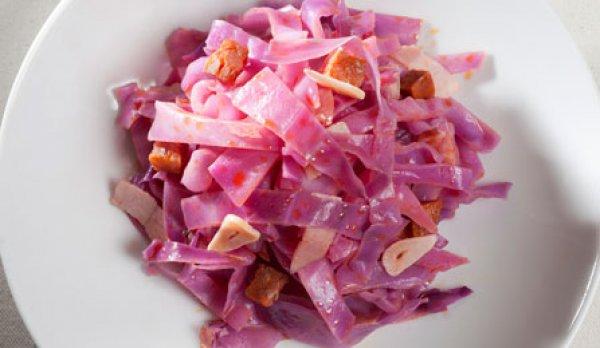 Рецепт                  Испанский салат из краснокочанной капусты