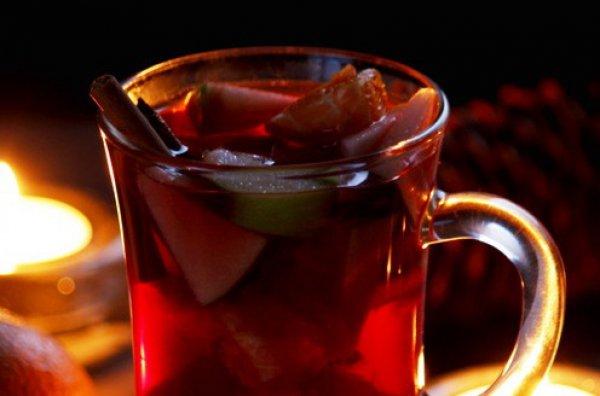 Рецепт                  Глинтвейн с яблоками и апельсинами