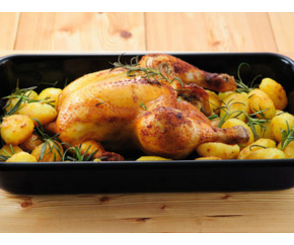 Рецепт                  Запеченная курица с картофелем