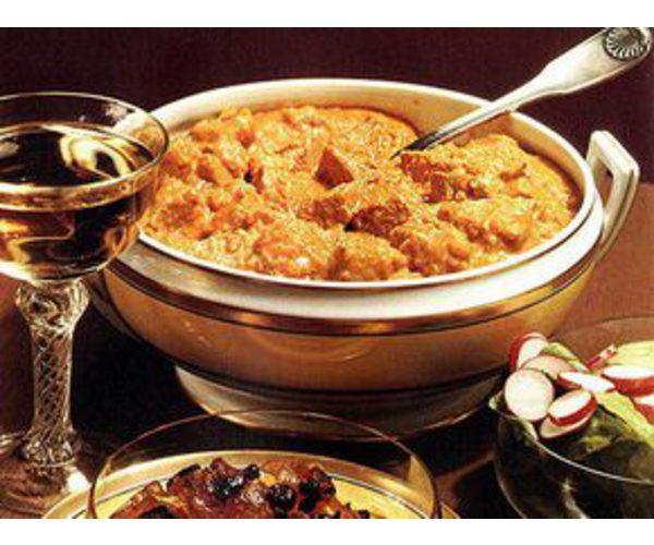 Рецепт                  Свинина с пряностями и рисом