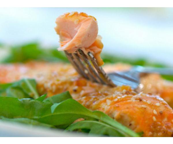 Рецепт                  Лосось с апельсиновым джемом