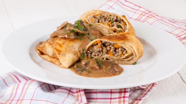 Рецепт                  Масленица 2015: Рецепт блинов с мясом и грибами
