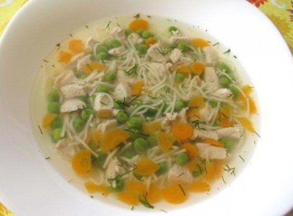 Рецепт                  Суп с макаронами