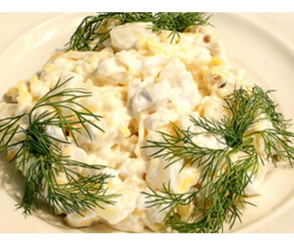 Рецепт                  Куриный салат с ананасами