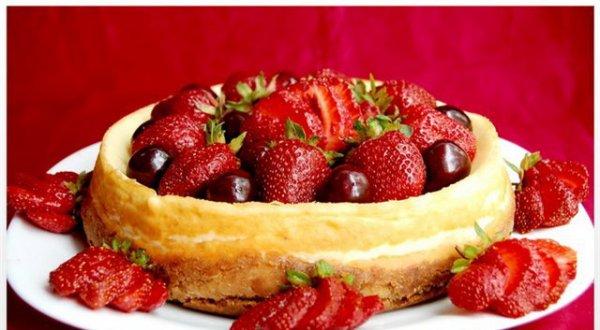 Рецепт                  Ванильный чизкейк с ягодами