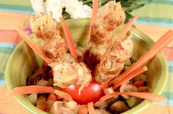 Рецепт                  Люля-кебаб с зеленью и чесноком