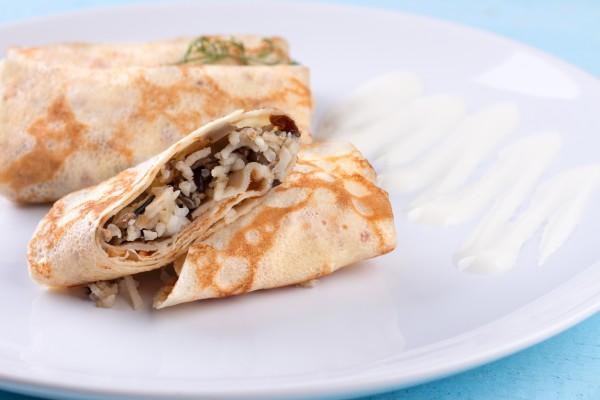 Рецепт                  Масленица 2015: Рецепт блинов с мясом и рисом