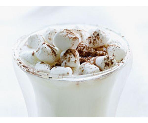 Рецепт                  Горячий белый шоколад с корицей и зефиром