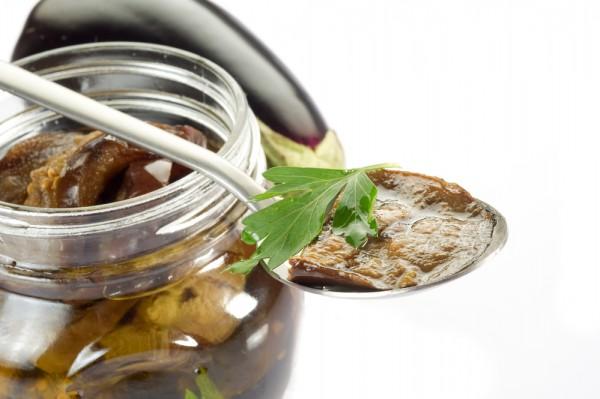 Рецепт                  Маринованные баклажаны с чесноком