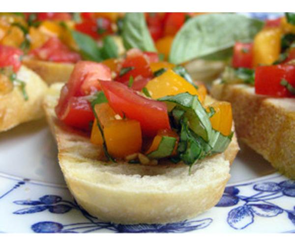 Рецепт                  Брускетта с помидорами