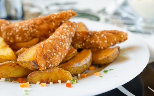 Рецепт                  Куриные палочки в панировке из кунжута