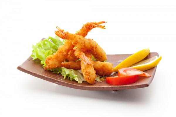 Рецепт                  Новогодние рецепты: Жареные креветки в кляре