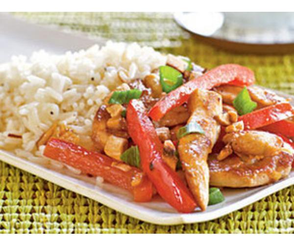 Рецепт                  Курица с красным перцем
