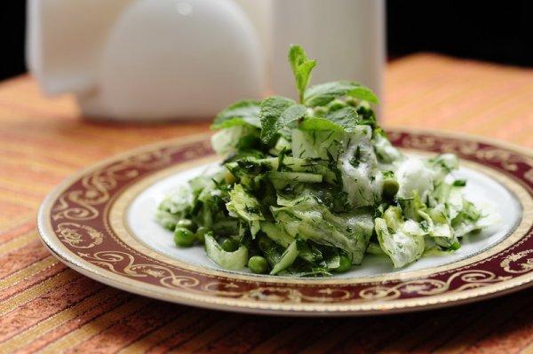 Рецепт                  Зеленый восточный салат
